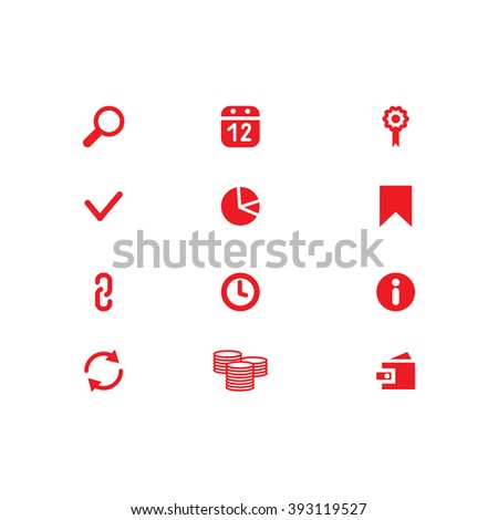 Website Icons. Universal Outline Icons For Web and Mobile. SEO Icons. Set web icons include: Search, purse, link, arrow, calendar, chain, bookmark; clock, check mark, money, flag - stock vector
