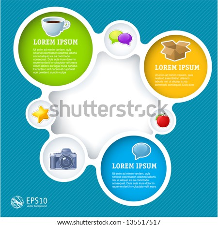 Website infographic loop template, Vector design frame. - stock vector
