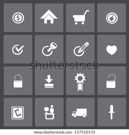 Website,internet,icon set,vector - stock vector