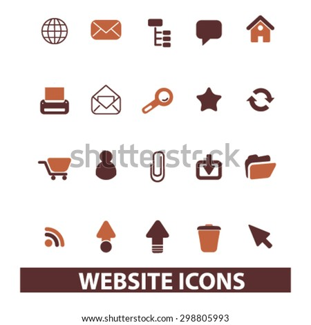 website, internet, page, web, site icons, signs, illustrations set, vector - stock vector