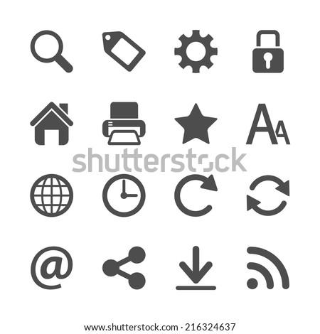 website menu icon set, vector eps10 - stock vector