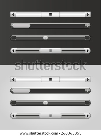 website scroll bars - stock vector