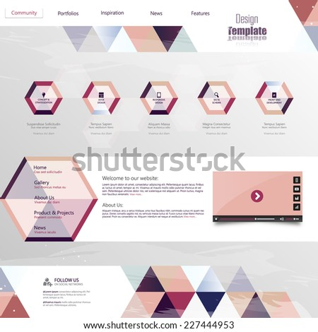 Website Template Abstract Unusual Design, Eps 10 - stock vector