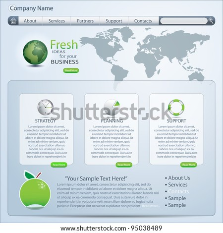 website template, vector - stock vector