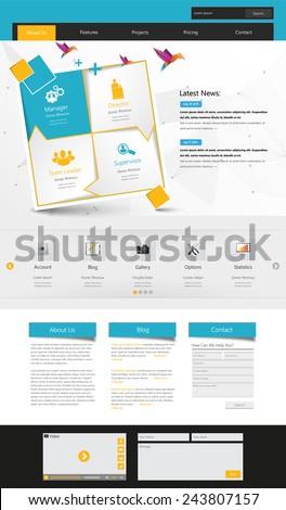 Website Template Vector Illustration.   - stock vector