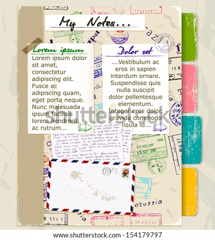 Website template with vintage elements. Vector illustration EPS10 - stock vector