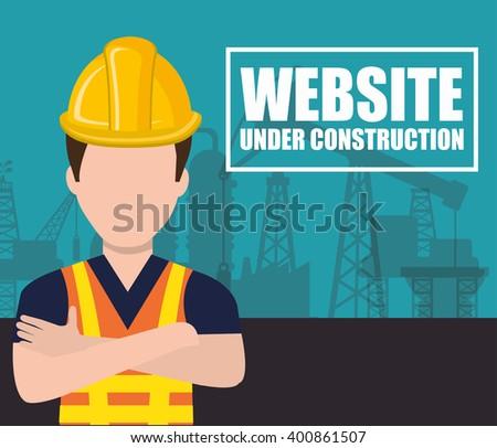 website under construction design  - stock vector