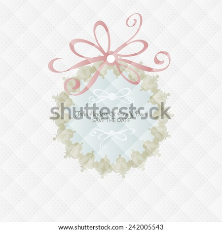 Wedding card flat. cards newlyweds named. Wedding card flat. Wedding Cake flat. Wedding Card Invitation in Vector - stock vector
