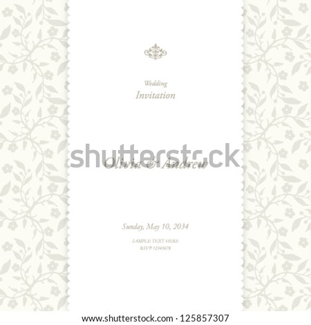 Wedding card, invitation card - stock vector