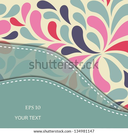 Wedding card or invitation with abstract floral background. eps10 - stock vector