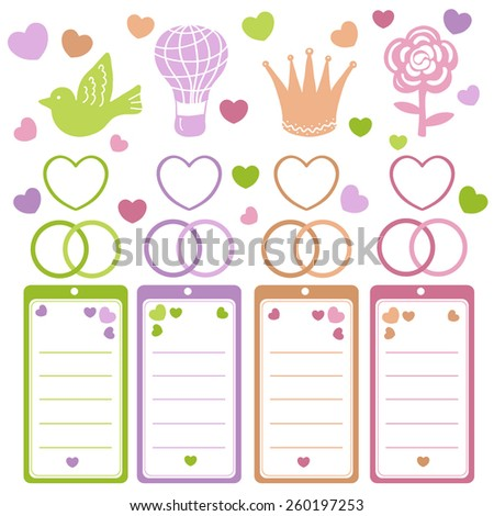 Wedding design elements - stock vector