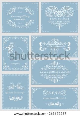 Wedding design. Set - stock vector
