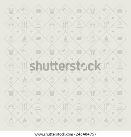 wedding icons background - stock vector