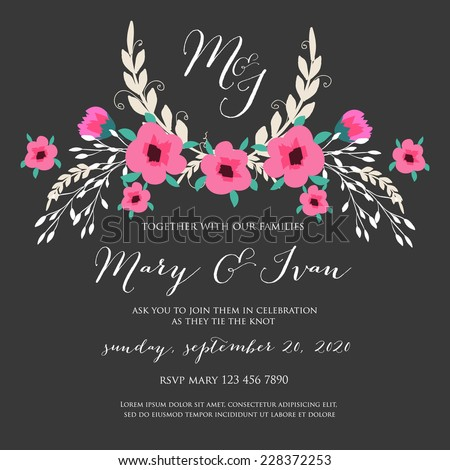 Wedding invitation - stock vector