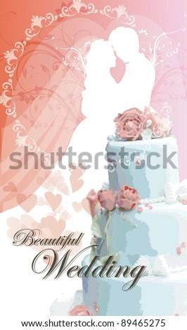wedding invitation. - stock vector