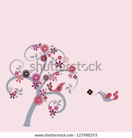 Wedding invitation and Valentines card - stock vector
