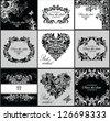 Wedding invitation (black and white) - stock vector