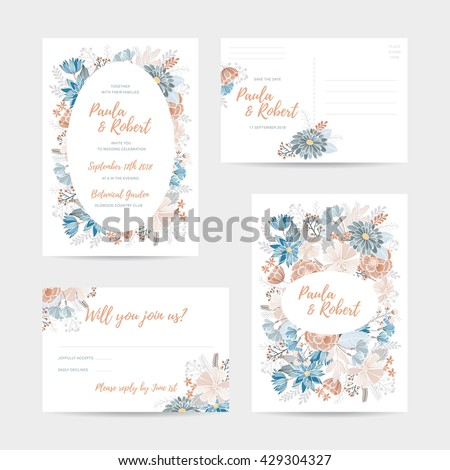 Wedding reception invitation vector all the best ideas about marriage rsvp stock vectors vector clip art shutterstock stopboris Image collections
