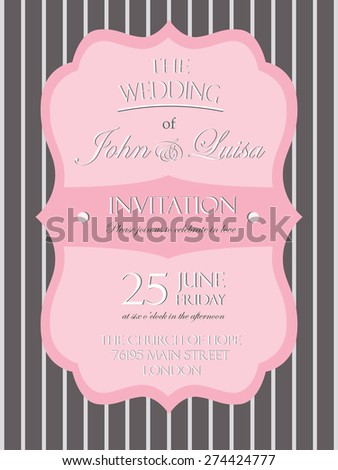 wedding invitation card template vector/illustration - stock vector