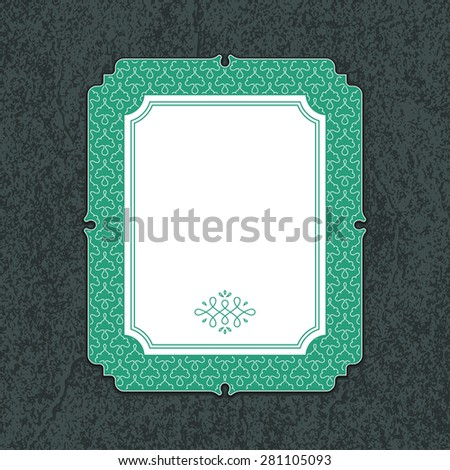 Wedding invitation card template with floral ornaments. Vector illustration - stock vector