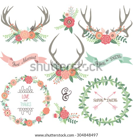 Wedding Invitation collections. - stock vector