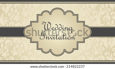 Wedding invitation. Floral background in pastel colors       - stock vector