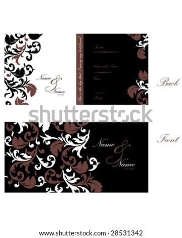 Wedding Invitation o - stock vector