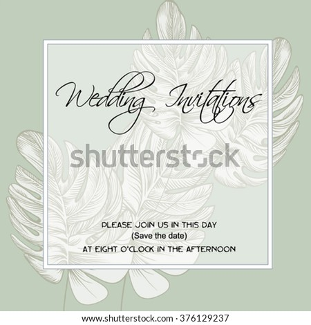 wedding invitation on the background of 