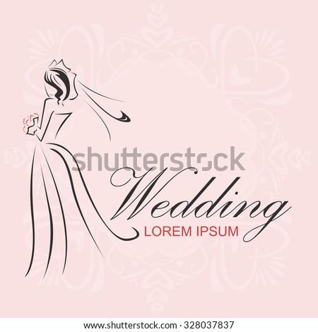 Wedding Logo - stock vector