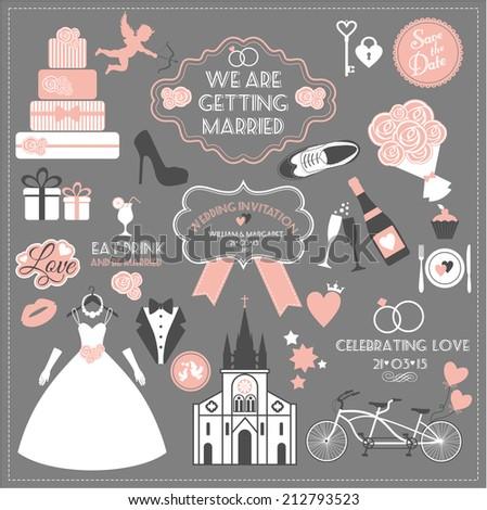 Wedding set. - stock vector