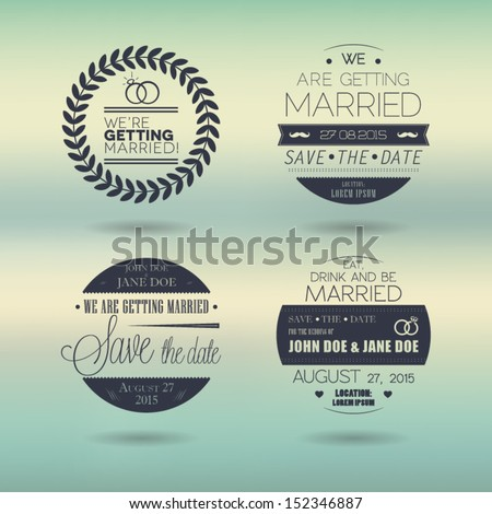 Wedding stamps circle - stock vector
