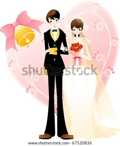 Wedding Story - stock vector