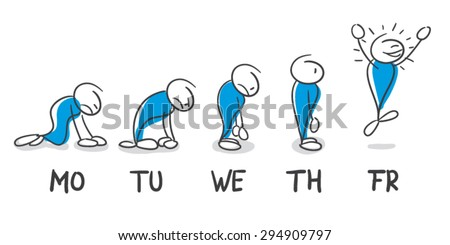 Weekday - stock vector