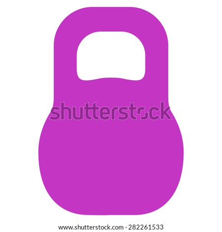 Weight icon from Basic Plain Icon Set. Style: flat vector image, violet color, rounded angles, white background. - stock vector