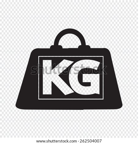 weight kilogram icon - stock vector