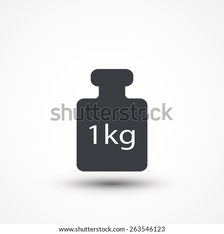 Weight kilogram icon. - stock vector