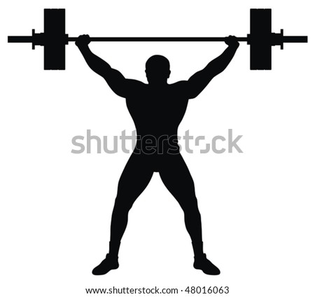 Weight lifter athlete - stock vector