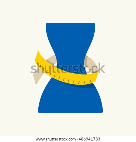Weight loss vector icon - stock vector