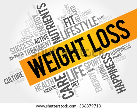 Weight Loss word cloud, health concept - stock vector