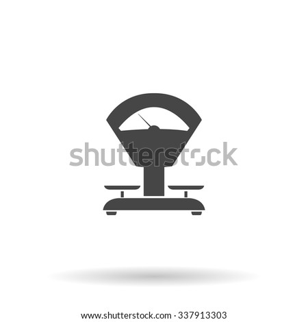 Weight Scale. Icon Vector - stock vector