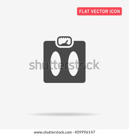 Weight scale icon. Vector concept illustration for design. - stock vector