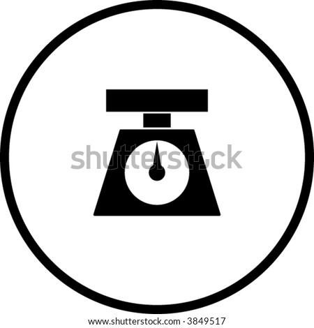weight scale symbol - stock vector