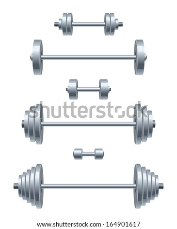 Weight set - stock vector
