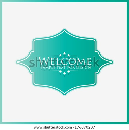 WELCOME - stock vector