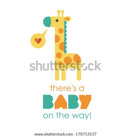 welcome baby card. vector illustration - stock vector
