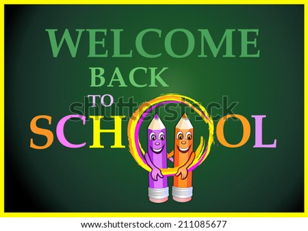 Welcome back to school - stock vector
