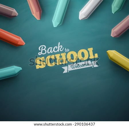 Welcome back to school, eps 10 - stock vector