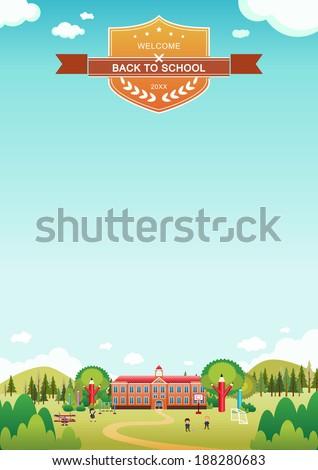 Welcome back to school poster Vector/Illustrator - stock vector