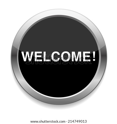 Welcome button - stock vector