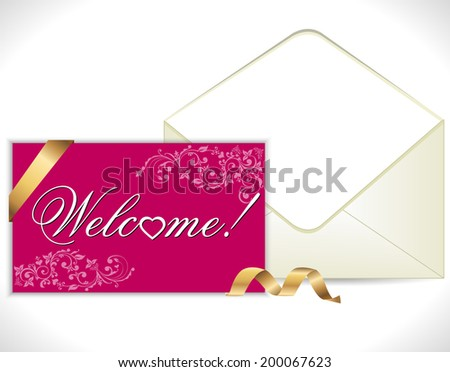 welcome lettering - vector eps10 - stock vector